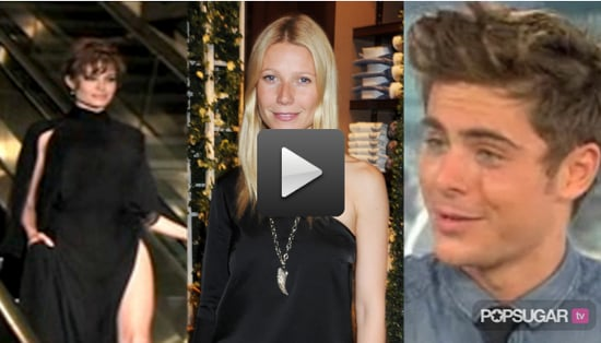 Video of Angelina Jolie at Salt Premiere in Japan, Gwyneth Paltrow Singing a Country Song, and Zac Efron Sharing Family Photo