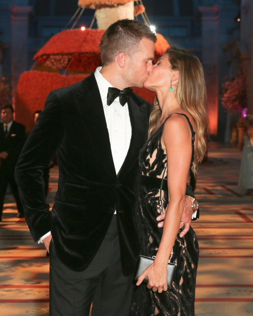 Tom Brady and Gisele Bündchen couldn't keep their hands off of each other.