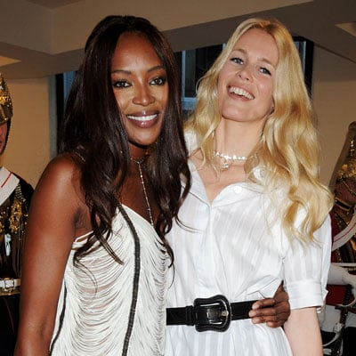 Naomi Campbell at Claudia Schiffer Testino Opening in London