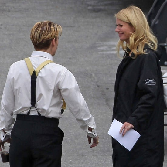 Gwyneth Paltrow, Johnny Depp, and Jeff Golblum on Set