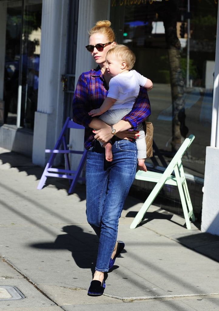January Jones was out in Los Feliz, CA.