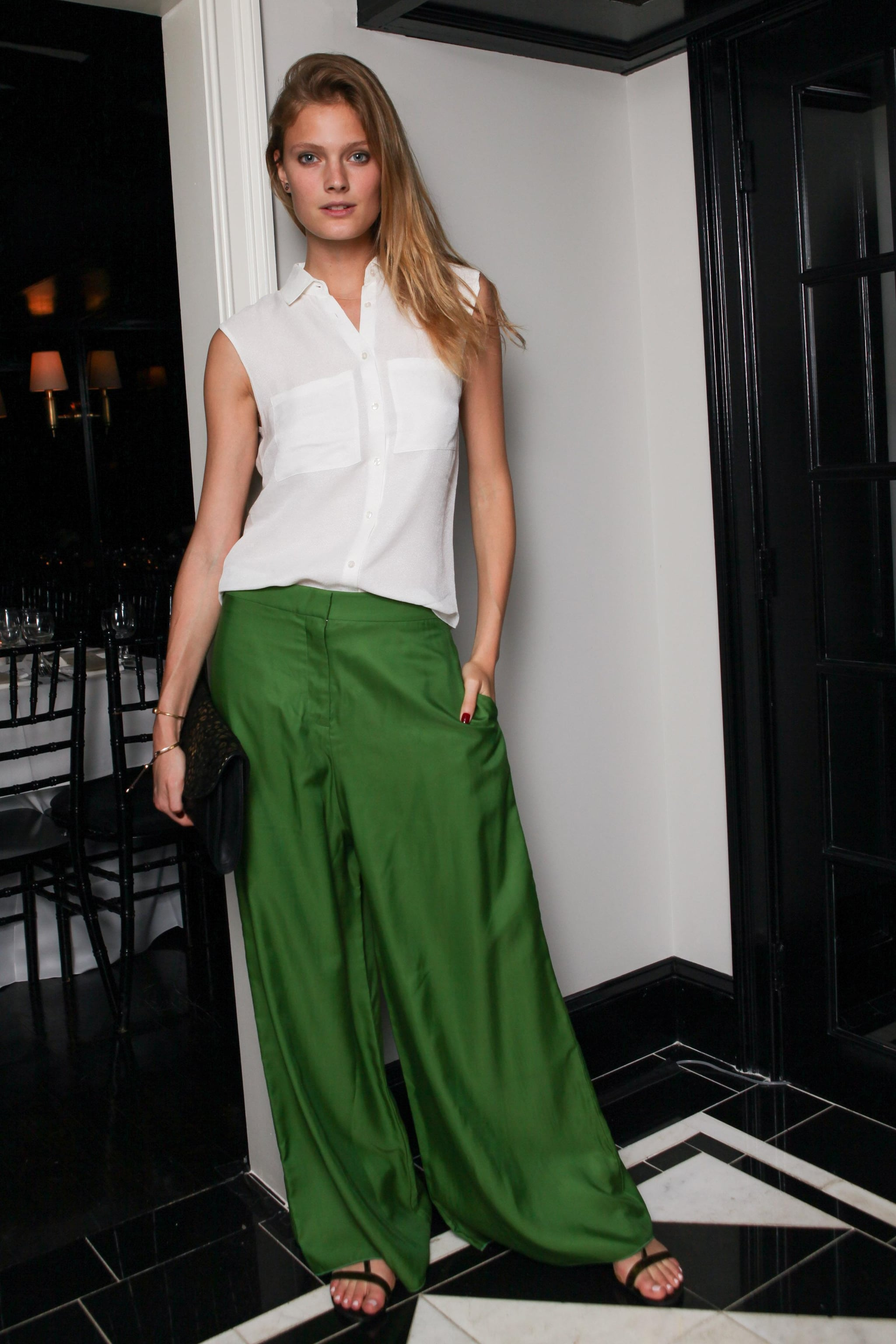 Constance Jablonski at the Frame Denim dinner for the Karlie Forever collaboration in New York.  Photo courtesy of Angela Pham/BFAnyc.com