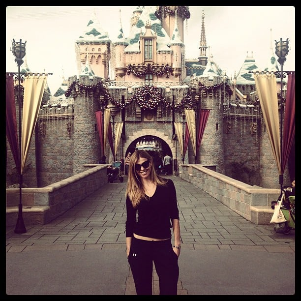 Laura Csortan paid a visit to the happiest place on Earth: Disneyland. Source: Instagram user lauracsortan