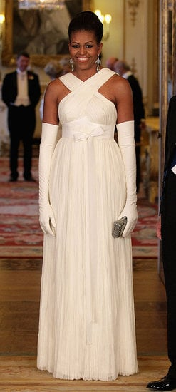 We think Michelle channeled her inner princess in a cream Tom Ford gown at a state dinner at Buckingham Palace.