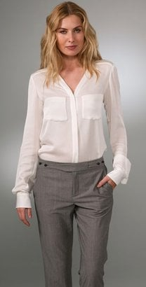 Rachel Roy Sheer Blouse
