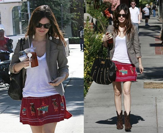 Rachel Bilson Out and About in LA In LnA T-Shirt and Temperley Bag