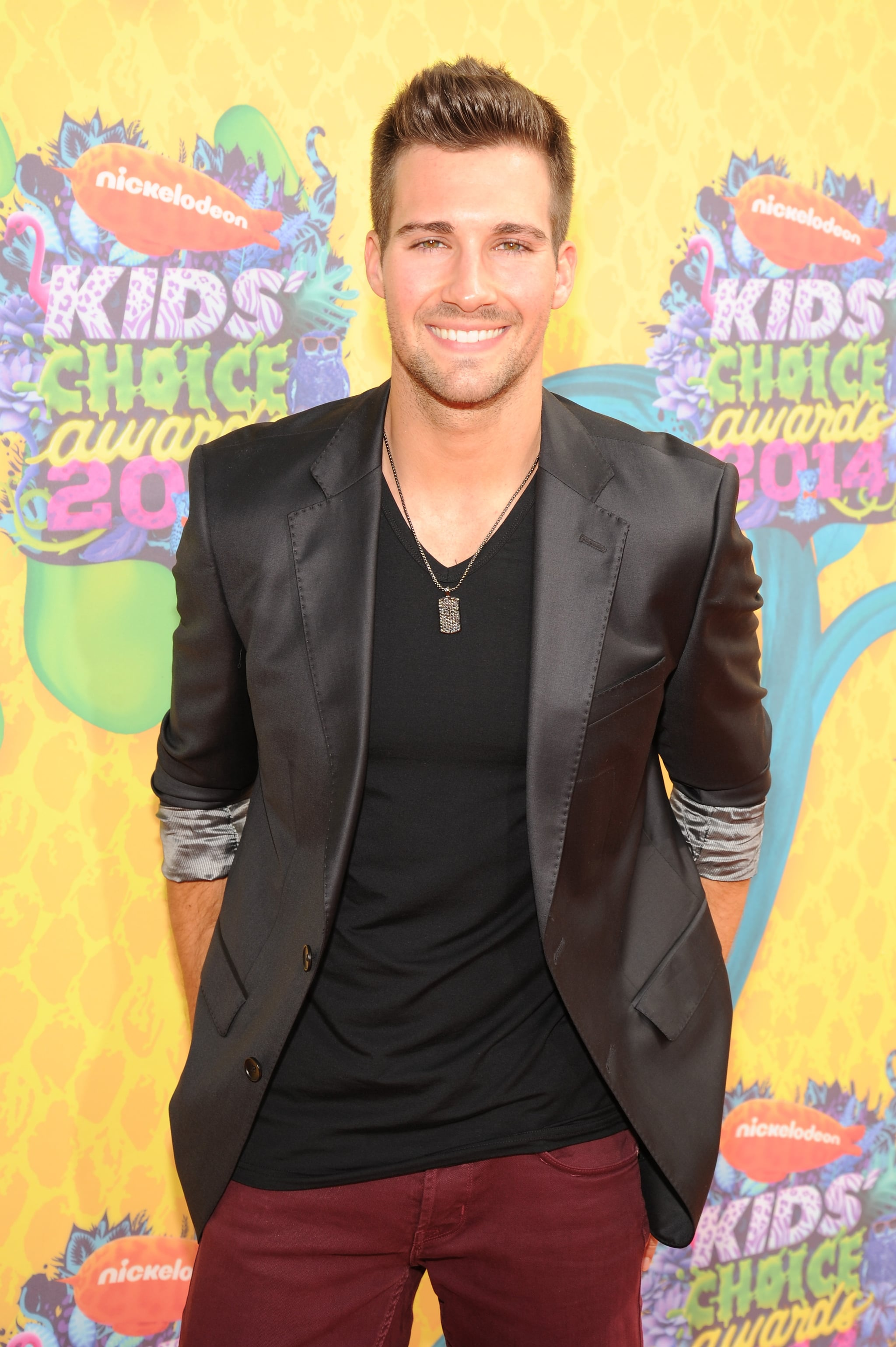 Nickelodeon alum and Dancing With the Stars contestant James Maslow flashed his smile.