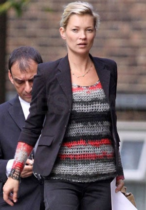 Photo of Kate Moss in Moody Topshop Sweater in London