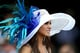 Blue feathers sprung from this hat at the 2012 Kentucky Derby.
