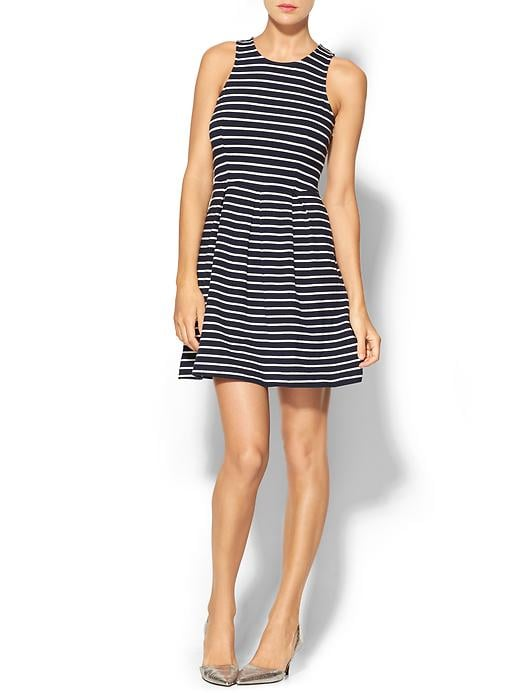 THML Clothing Striped Fit and Flare Dress