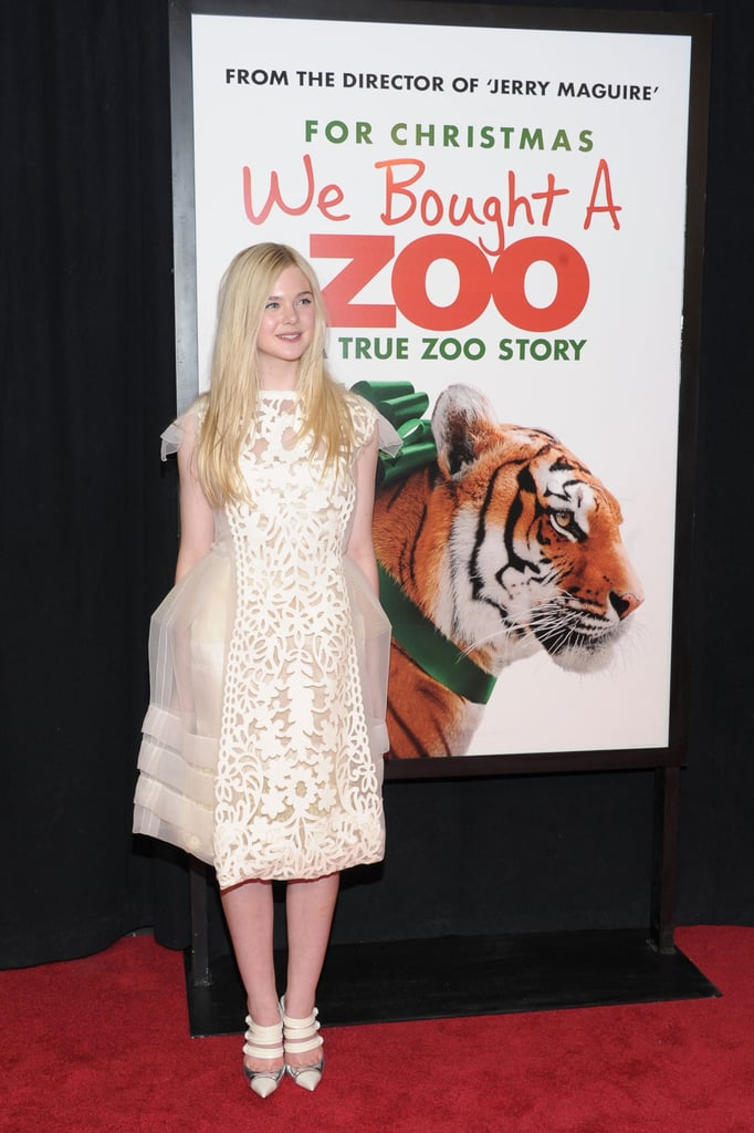 Elle Fanning was in NYC to promote her holiday film.