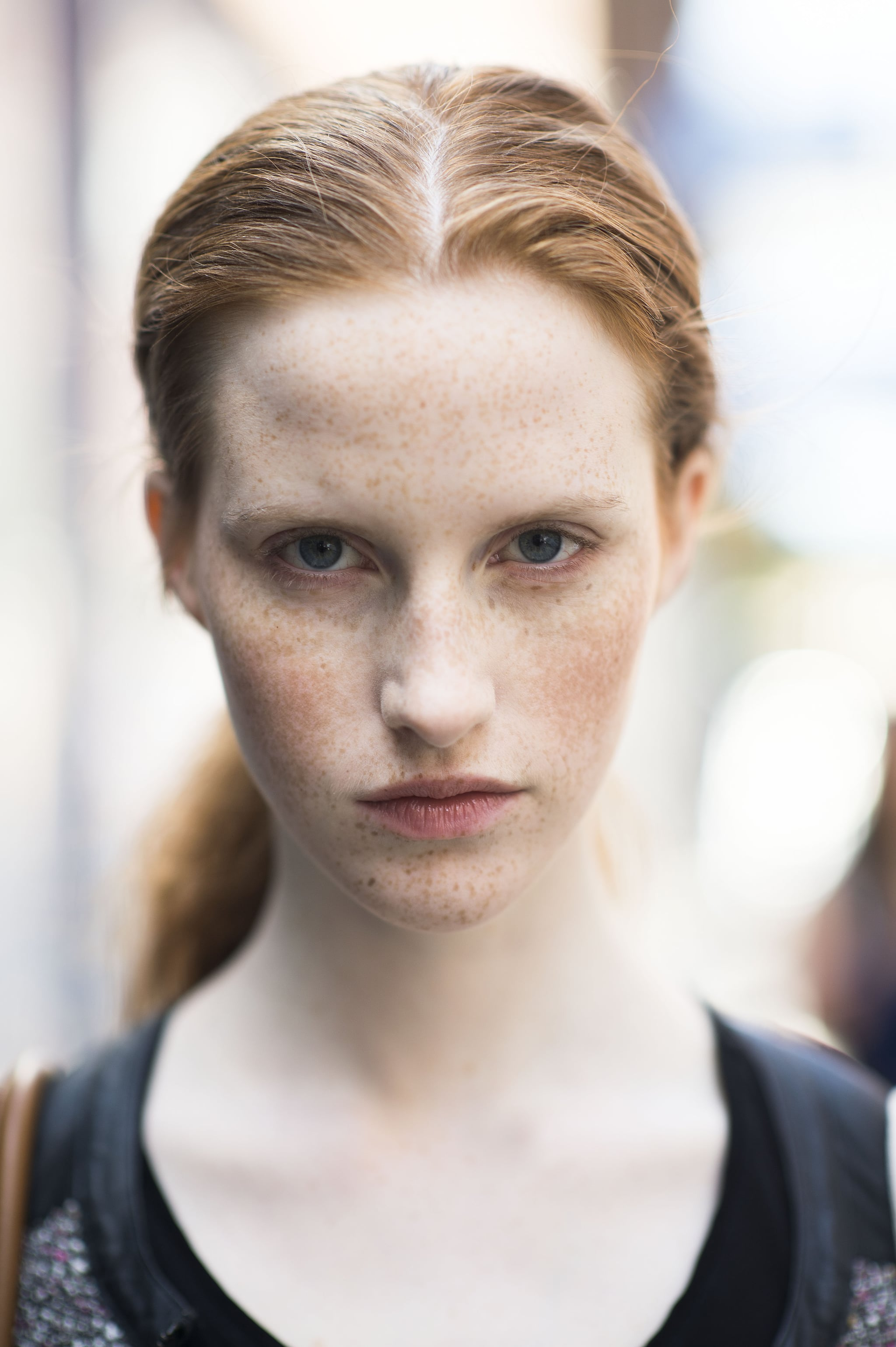 Freckles are the ultimate beauty statement in our book.  Source: Le 21ème | Adam Katz Sinding