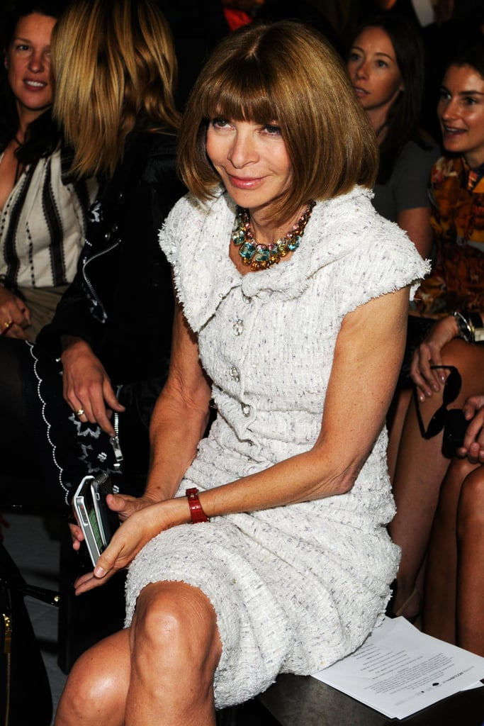 Anna Wintour smiled from her front-row seat.