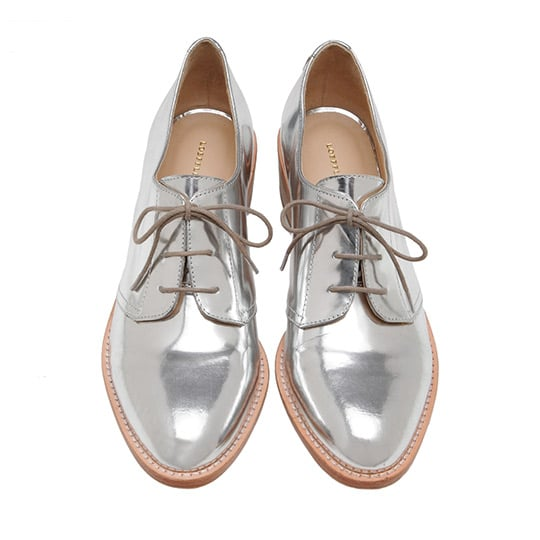 Loeffler Randall's Joanna Welted Oxfords ($350) play right to the season's biggest trend with a metallic finish. We'd wear these with our favorite leather-effect skinnies.