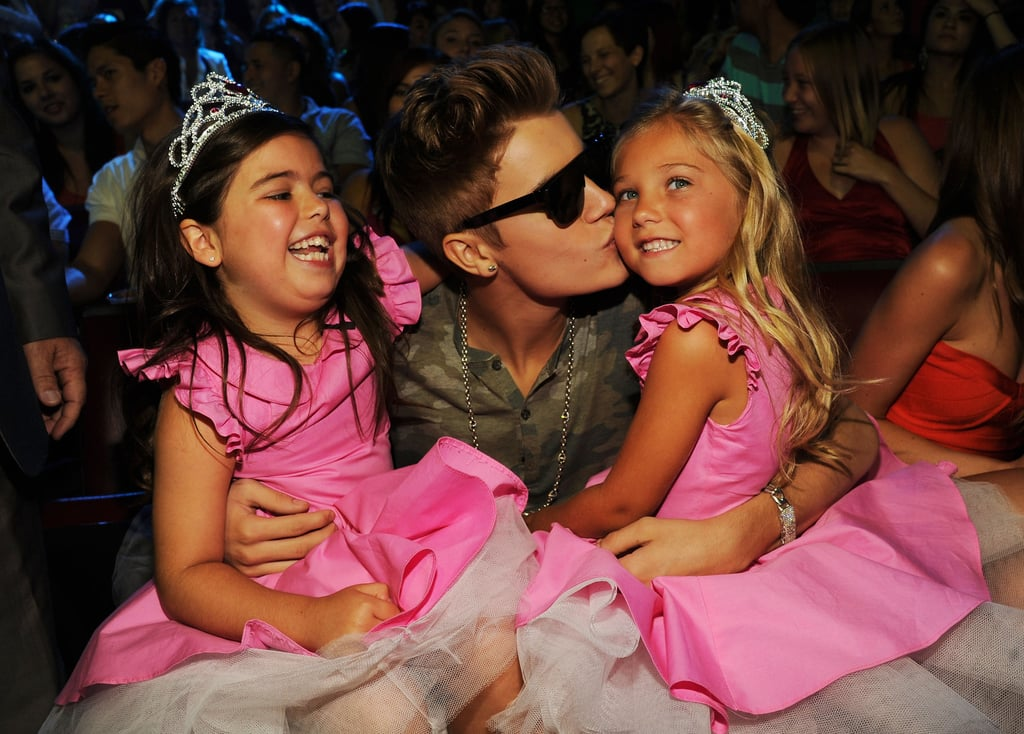 Justin Bieber has millions of fans, but from the looks of this picture, he's a big fan of tiny YouTube sensations Sophia Grace Brownlee and Rosie McClelland. Tutus, tiaras, and Bieber — this could rank among my favorite photos of the decade.  — Katie Henry, associate editor
