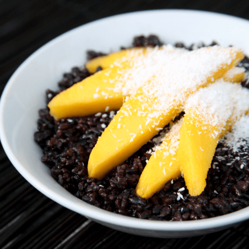 Black Rice With Mango Breakfast