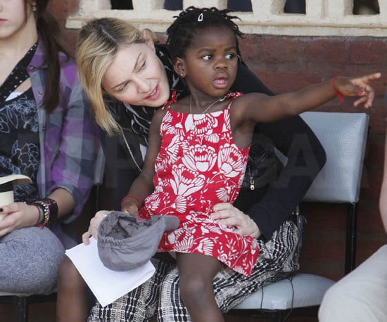 Slide Photo of Madonna and Mercy in Malawi