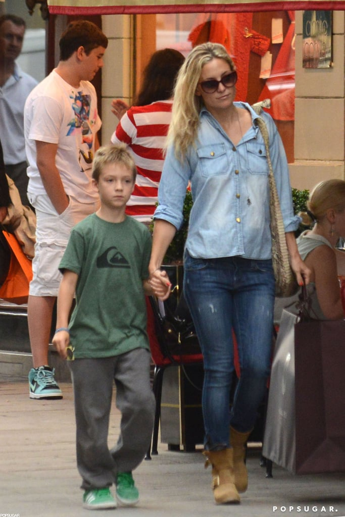 Kate Hudson Shops Paris With Ryder While Matthew Preps to Rock the World