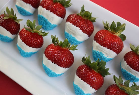 Make These: Red, White, and Blue Strawberries
