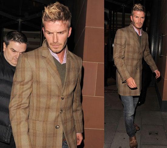 Photos of David Beckham in London