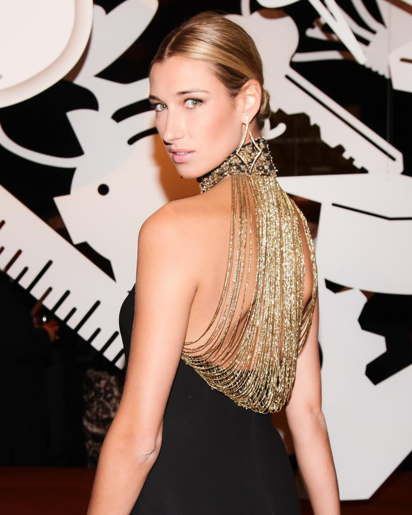 When Lauren Remington Platt showed her back at The New Yorkers for Children dinner, she surprised the crowd with ornate gold chains.