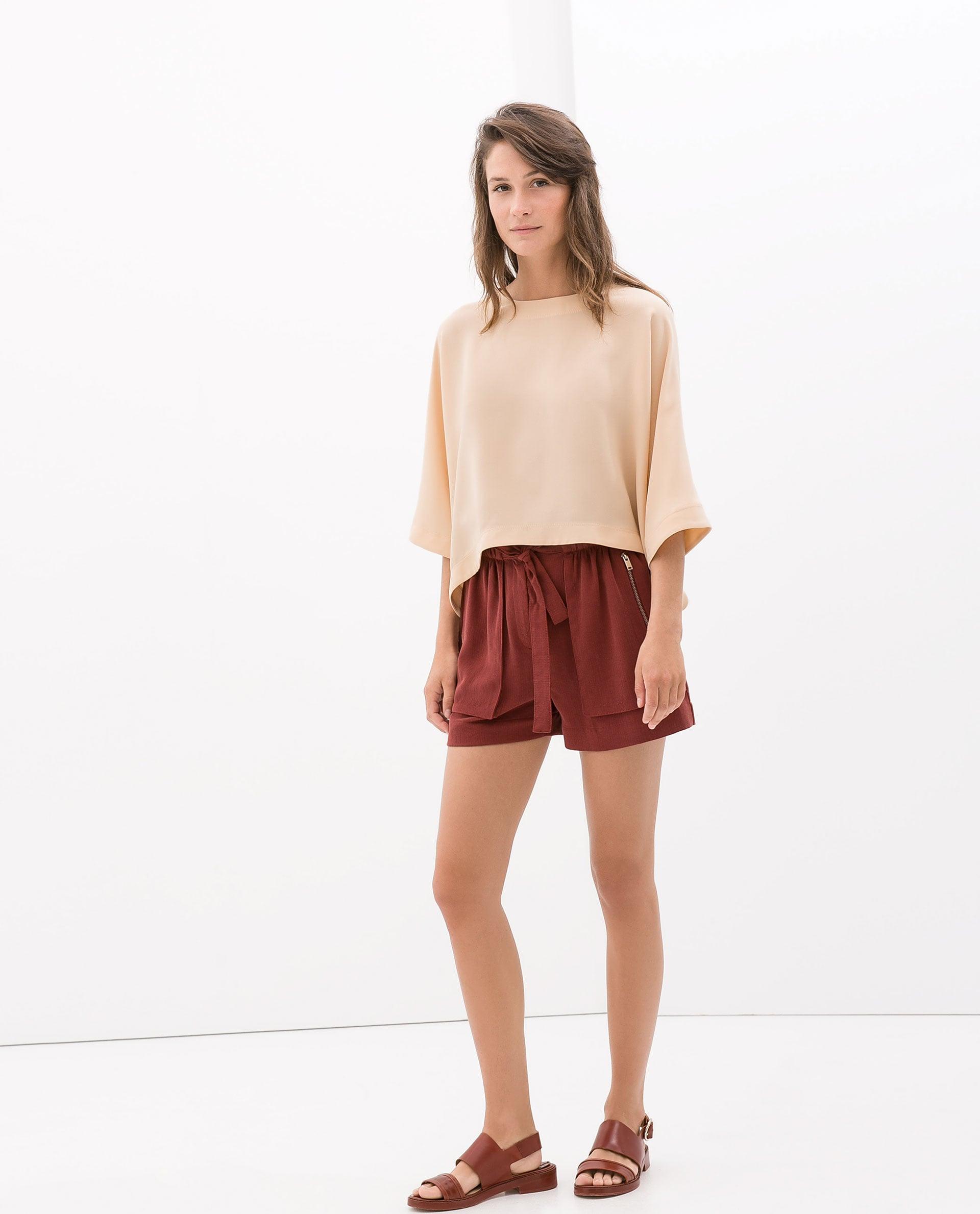 Zara Paper-Bag Waist Shorts