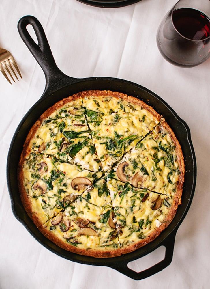 Gluten-Free Quiche With Arugula and Mushrooms