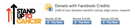 Fund Cancer Research With Unused Facebook Credits