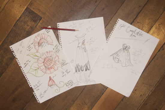 Scope Marnie Skilings Sketches For her 2011 RAFW Spring/Summer Collection before the show!