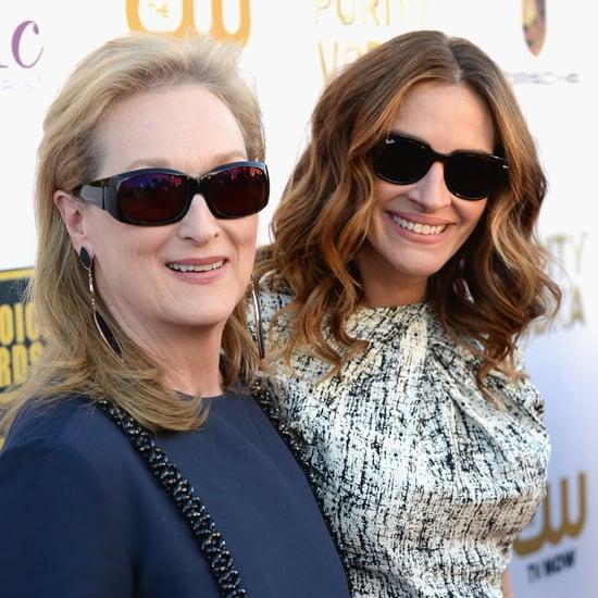 Julia Roberts and Meryl Streep at 2014 Critics Choice Awards
