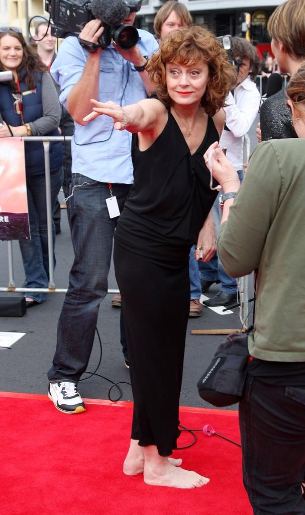 Susan Sarandon Going Barefoot