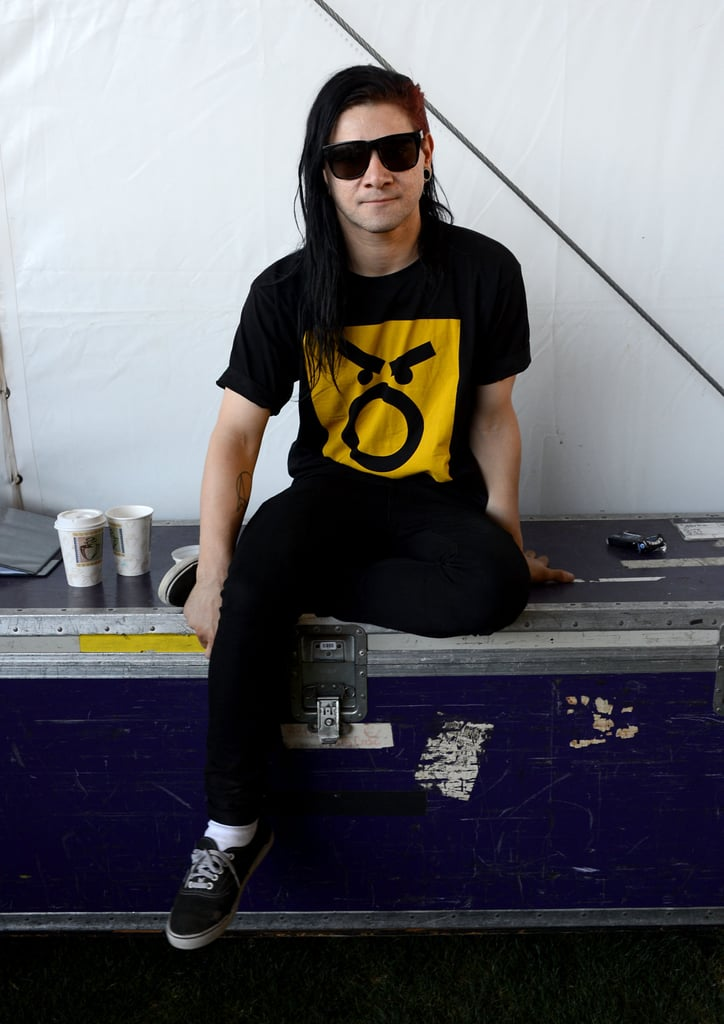 Skrillex took a break from the festivities.