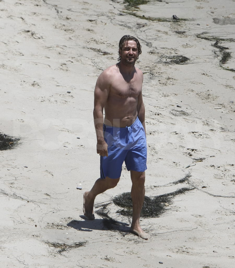 Gerard Butler looks good shirtless.