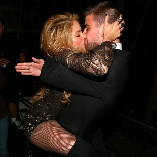 Shakira Kisses Gerard Pique at Billboard Awards 2014