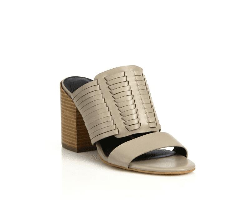 Rebecca Minkoff Camila Huarache Leather Slides ($175)