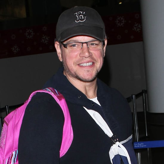Matt Damon With an Injured Arm at LAX | Pictures
