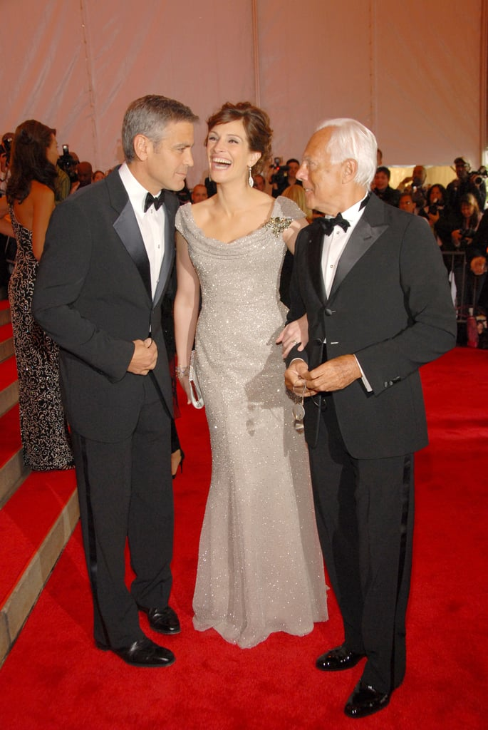 George Clooney, Julia Roberts, and Giorgio Armani — 2008