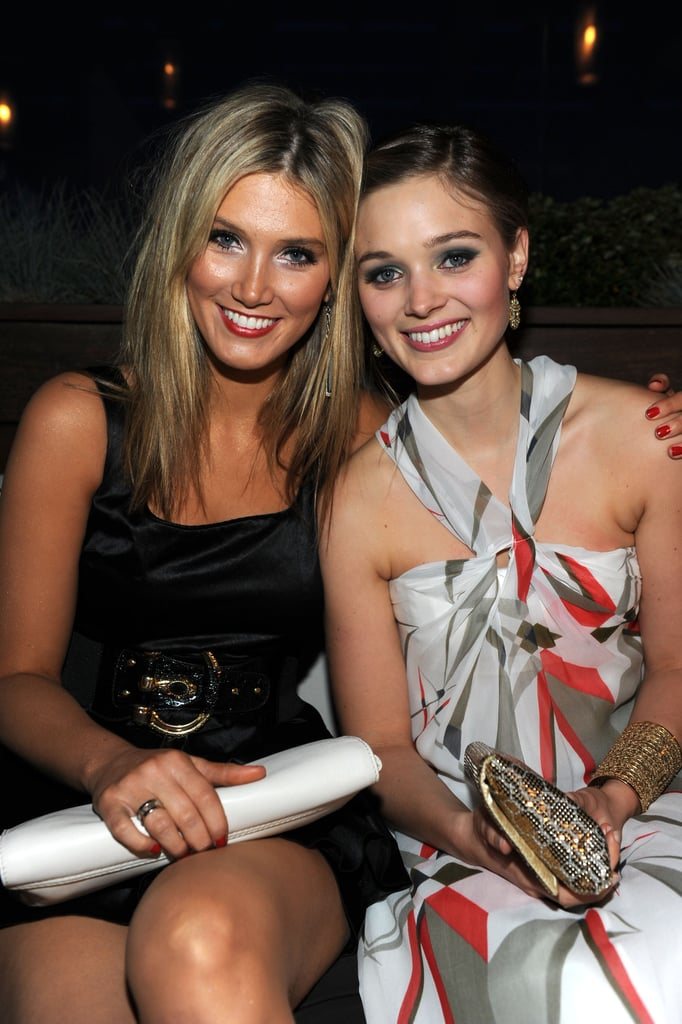 Delta mingled with Aussie on the rise Bella Heathcote at the 2010 Australians in Film Breakthrough Awards in May 2010.