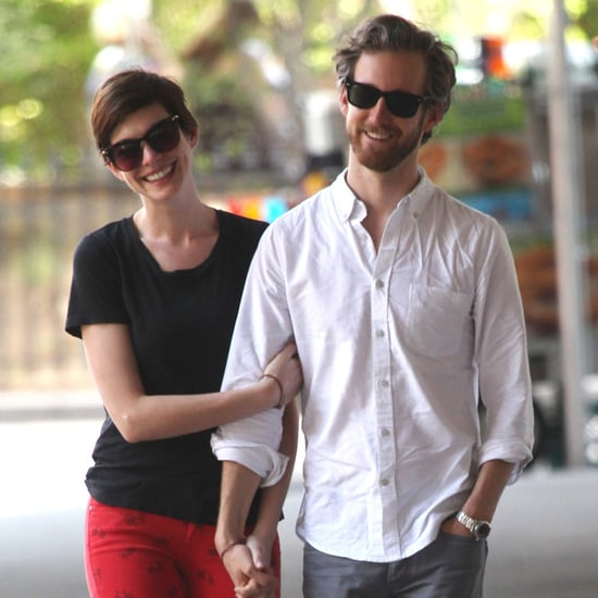 Anne Hathaway and Adam Shulman Holding Hands | Photos