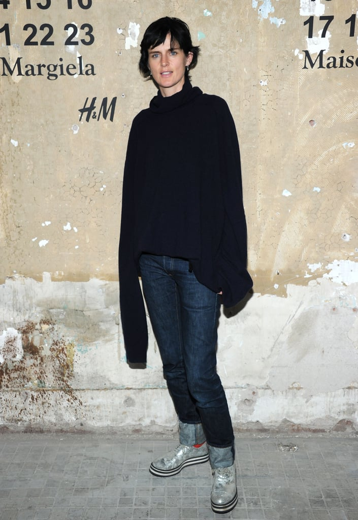 Stella Tennant attended the launch of Maison Martin Margiela for H&M in NYC.