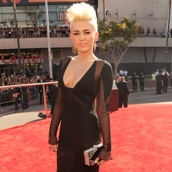 Miley Cyrus in a Black Gown at the MTV VMAs 2012