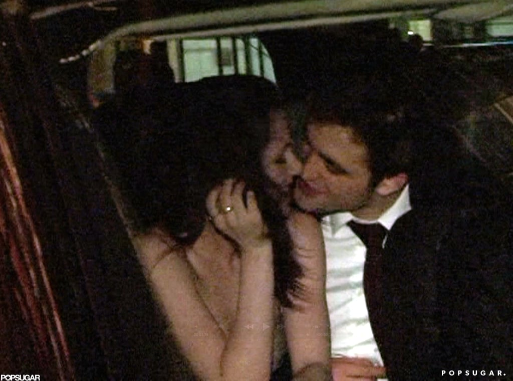 Robert Pattinson leaned in for a kiss from Kristen Stewart in the backseat of an NYC cab in April 2011.