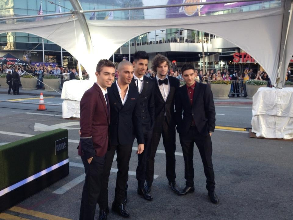 The Wanted posed for photos together before heading inside the show. Source: Twitter user thewantedmusic