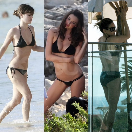 Hot Ladies Heat Up Spring in Teeny, Black Bikinis
