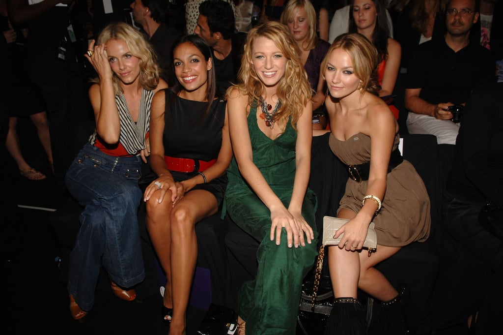 Monet Mazur, Rosario Dawson, Blake Lively and Becki Newton were together for Miss Sixty's NYC event in September 2008.