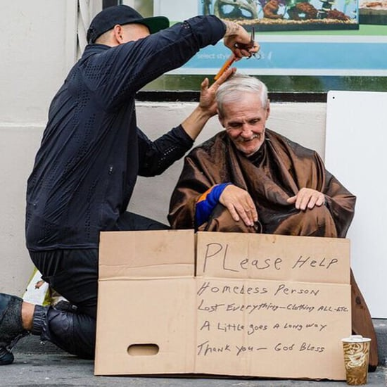 Man Cuts Homeless People's Hair For Free in New York (Video)