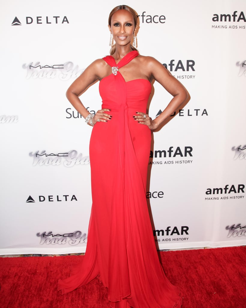 Iman wowed on the red carpet in a bright gown. Source: Matteo Prandoni/BFAnyc.com