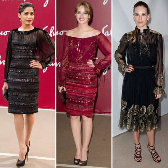 Leighton, Freida, and Hilary Get Stylish at the Louvre For Ferragamo