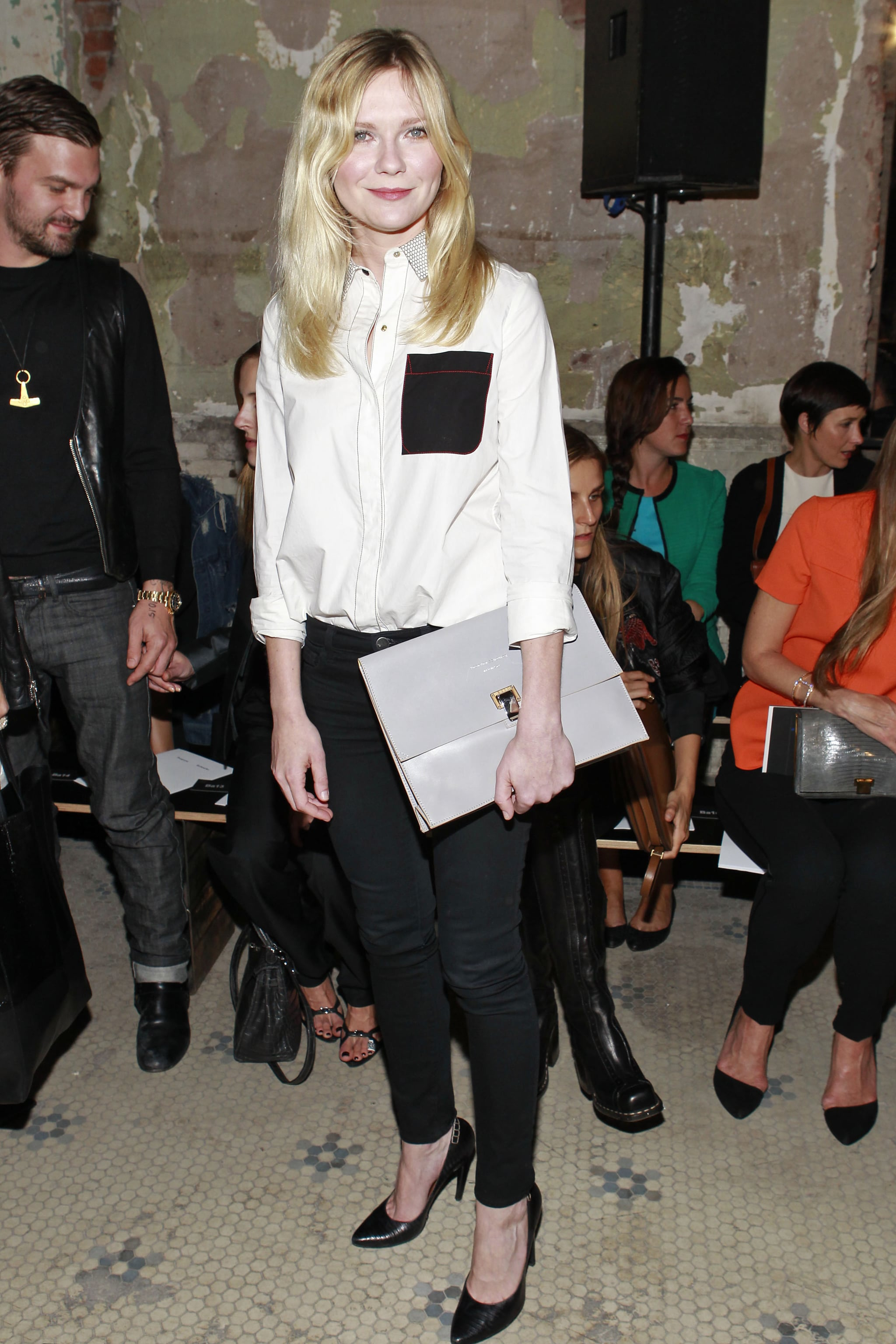 Kirsten Dunst was understated and totally cool ahead of showtime at Proenza Schouler.