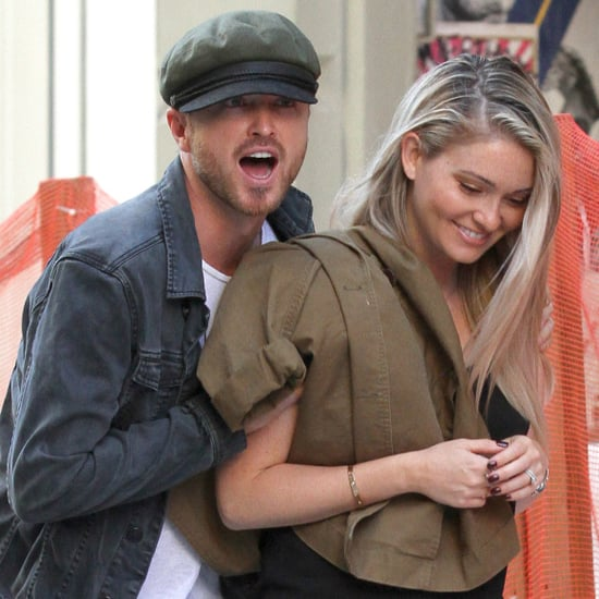 Aaron Paul and Lauren Parsekian in NYC August 2016